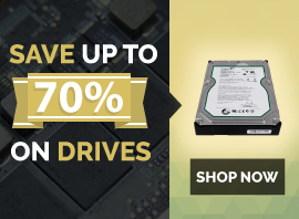 Save up to 70% on drives
