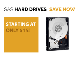 SAS drives starting at only $1