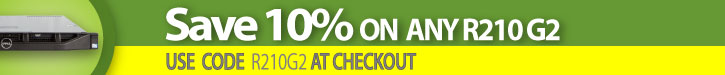 Click here to save 10% off Any Dell R210 server!