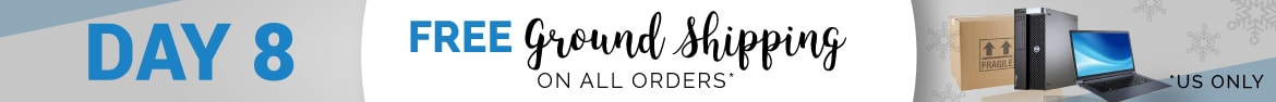 Day 8 is here! Get free ground shipping on any US order!
