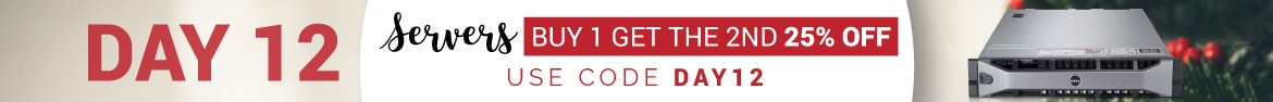 Day 12 is here! Buy one server and get 25% off the second with code DAY12!