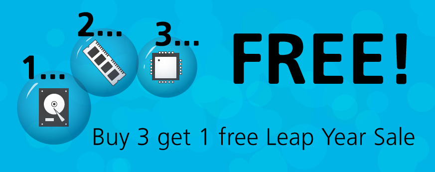 Buy 3 Get 1 Free Leap Year Sale