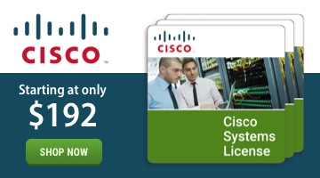 Cisco Systems Licenses starting at only $192.