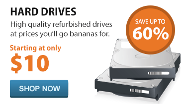 High quality hard drives starting at only $10.