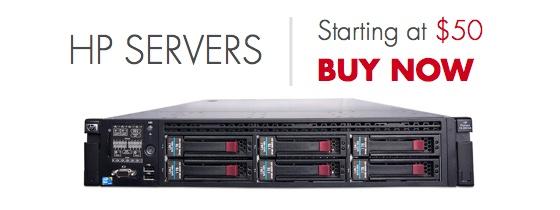 HP Servers starting at $50