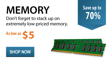 Don't forget to stock up on extremely low-priced memory starting as low as $3.