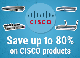 Save up to 80% off CISCO networking products.